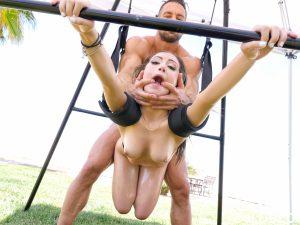 Lubed Lily Jordan in Sex Swing Facial 15