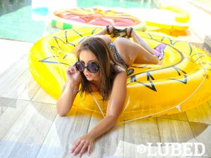 Lubed Layla London in Lubed by the Pool 7